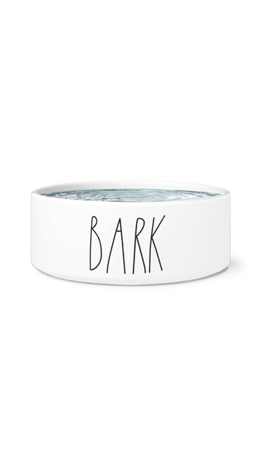 Bark White Pet Bowl | Sarcastic Me