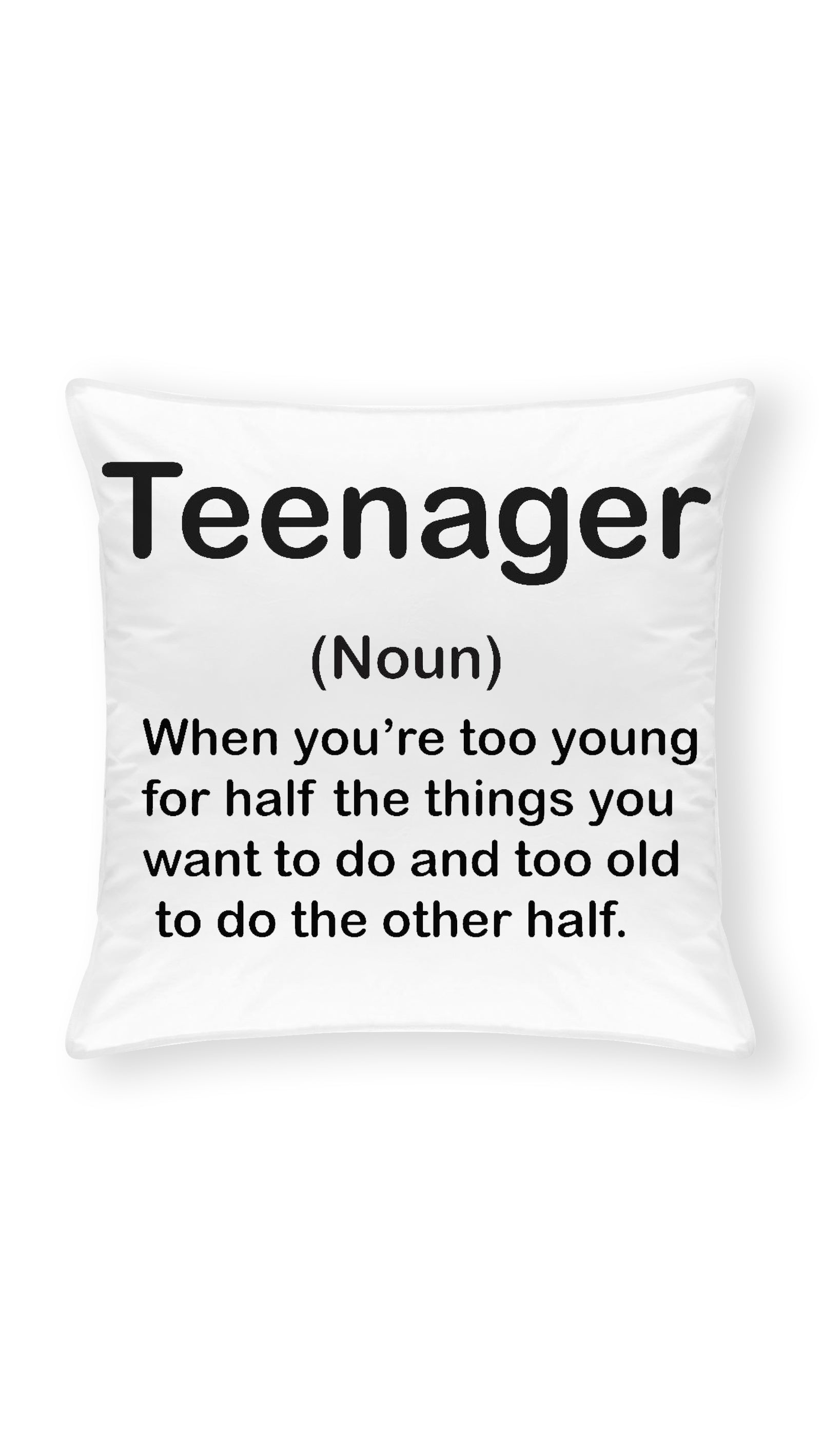 Teenage Throw Pillow | Sarcastic ME