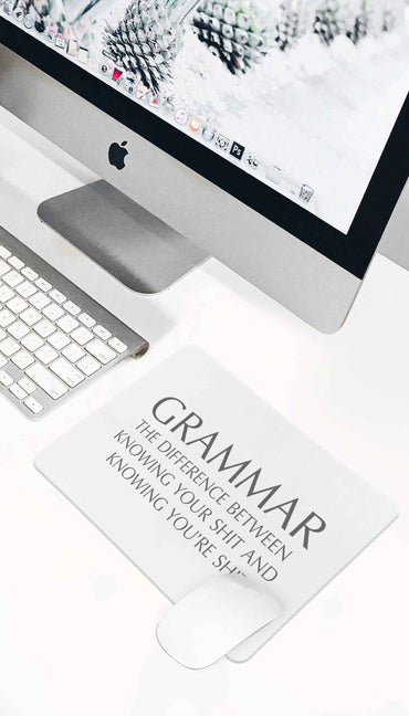 Grammar Funny Office Mouse Pad