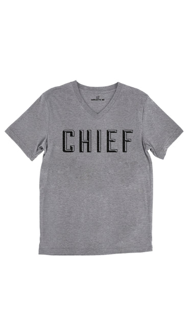 Chief Tri-Blend Gray Unisex V-Neck Tee | Sarcastic Me