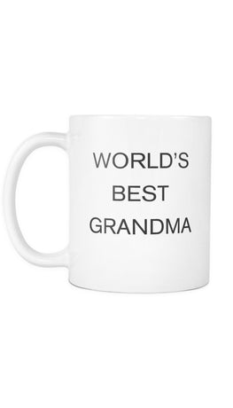 World's Best Grandma White Mug | Sarcastic Me