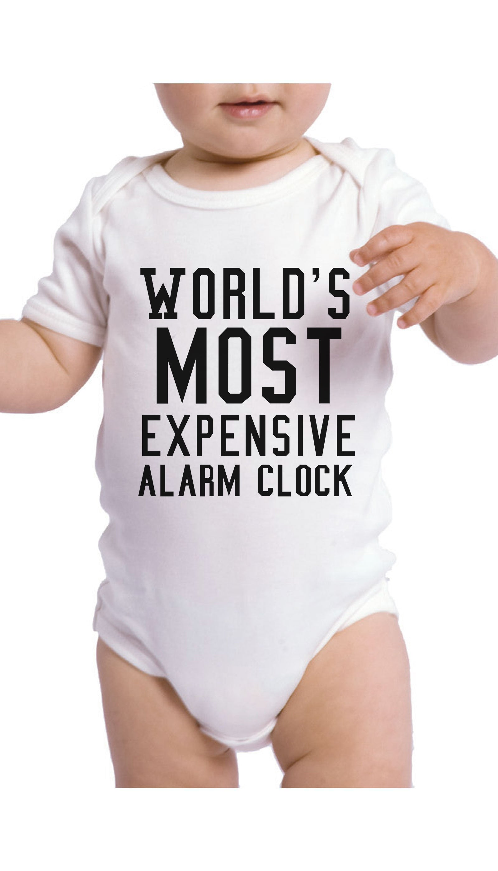 World's Most Expensive Alarm Clock Infant Onesie