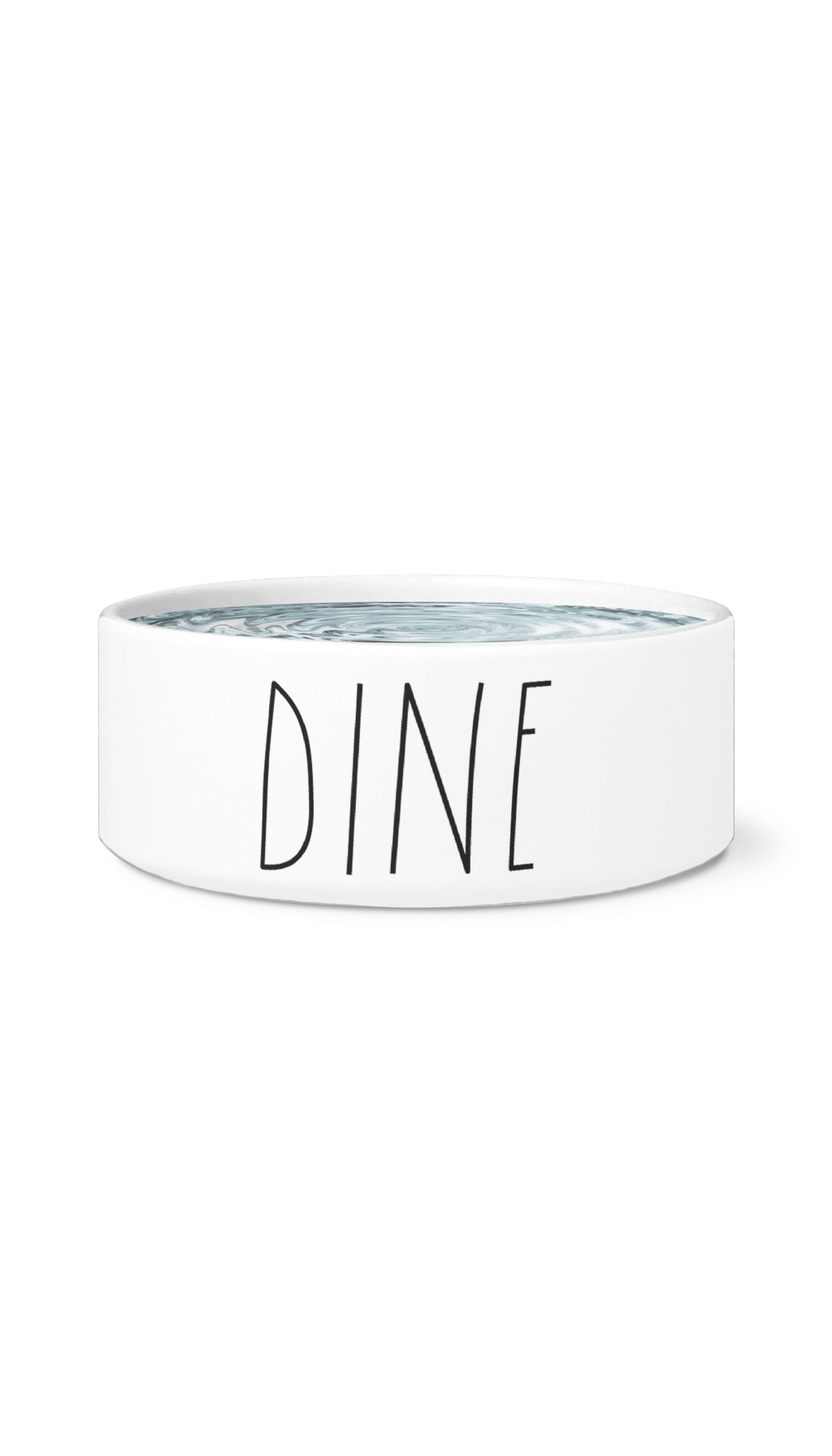 Dine White Pet Bowl | Sarcastic Me