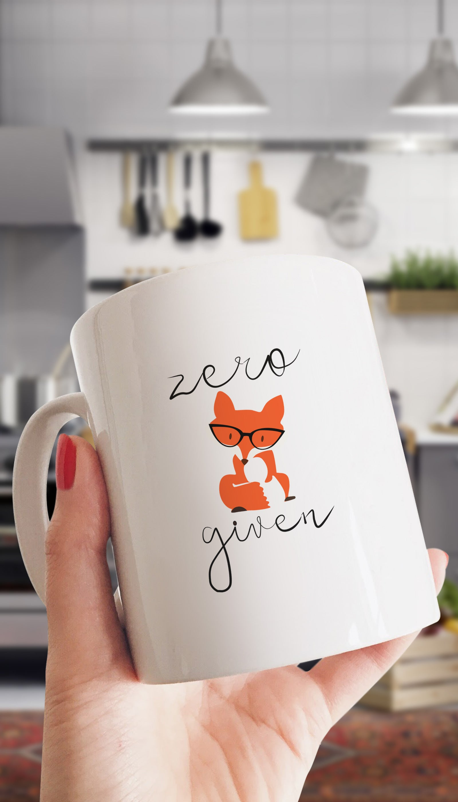 Zero Fox Given Funny & Clever Coffee Mug Gift | Sarcastic ME