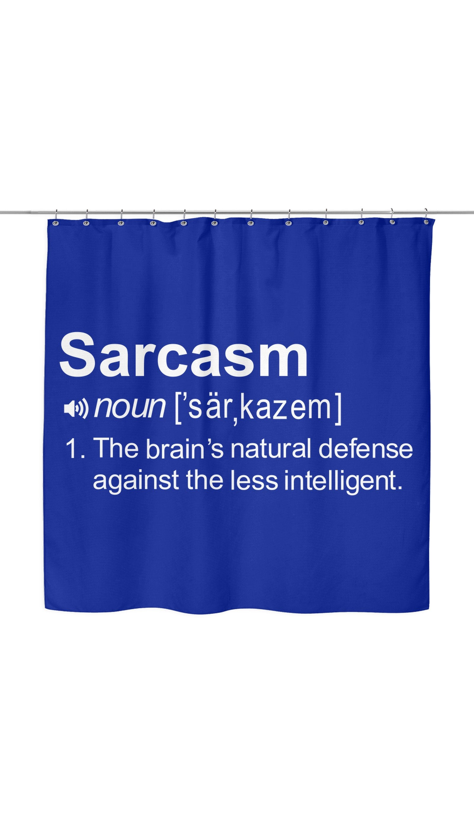 Sarcasm Noun Shower Curtain