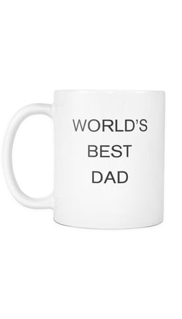 World's Best Dad White Mug | Sarcastic Me