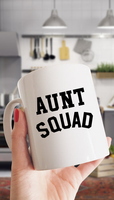 Aunt Squad Funny Office Coffee Mug Gift | Sarcastic ME