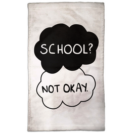 School? Not Okay Hand Towel