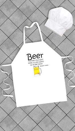 Beer Is Proof Funny Kitchen Apron | Sarcastic Me