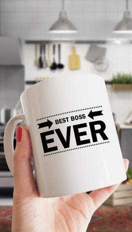 Best Boss Ever Funny & Clever Office Coffee Mug | Sarcastic ME
