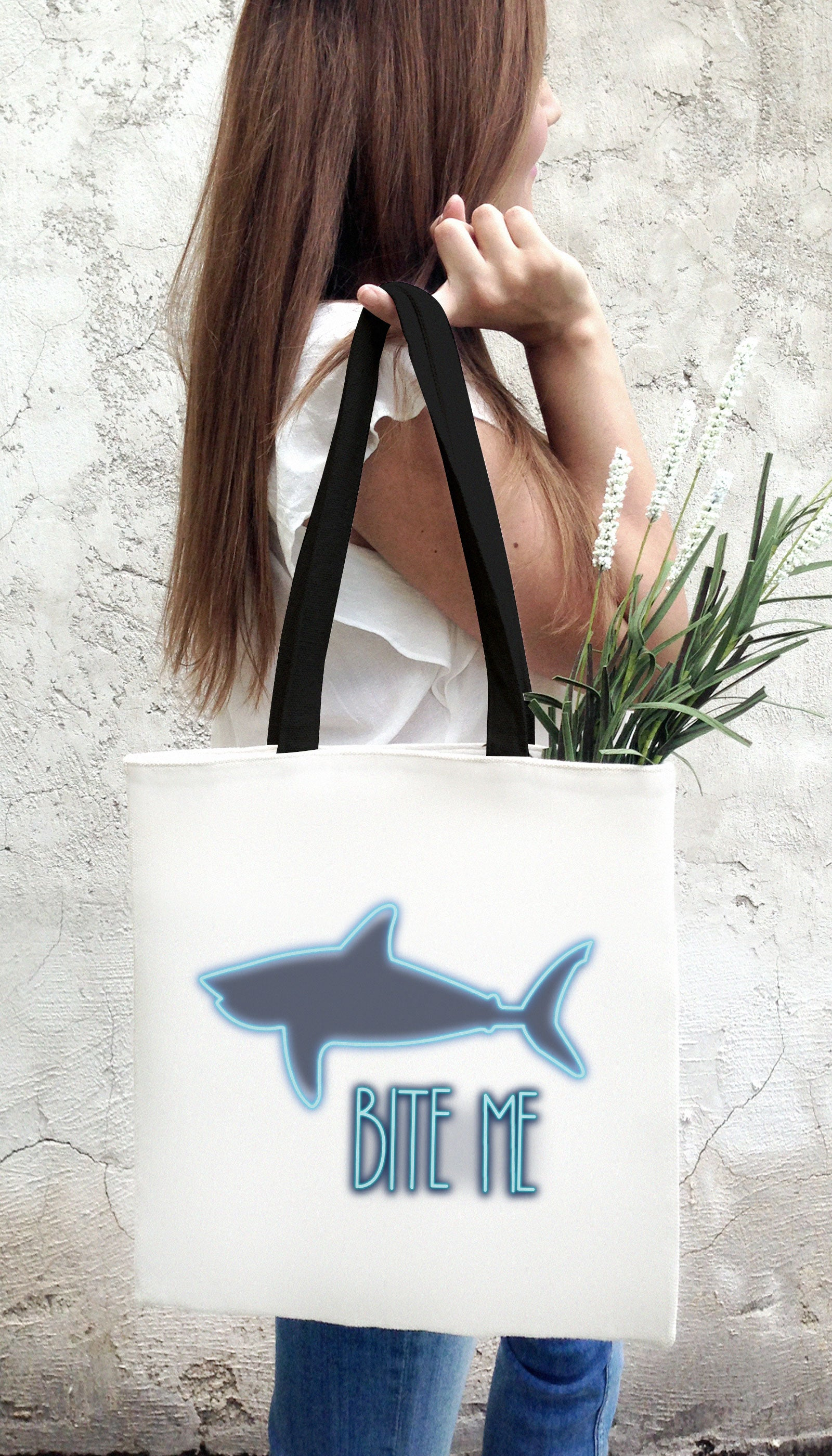 Bite Me Funny & Clever Tote Bag Gift | Sarcastic ME