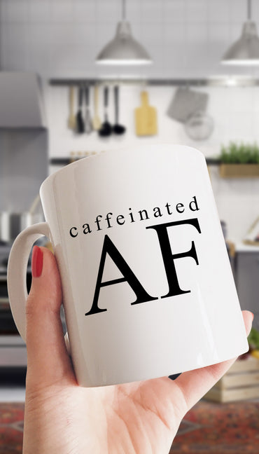 Caffeinated As Fck Funny & Clever Office Coffee Mug | Sarcastic ME