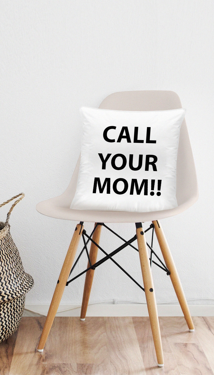 Call Your Mom!! Funny & Clever Home Throw Pillow Gift | Sarcastic ME