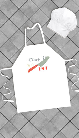 Chop It Like It's Hot Funny Kitchen Apron | Sarcastic Me