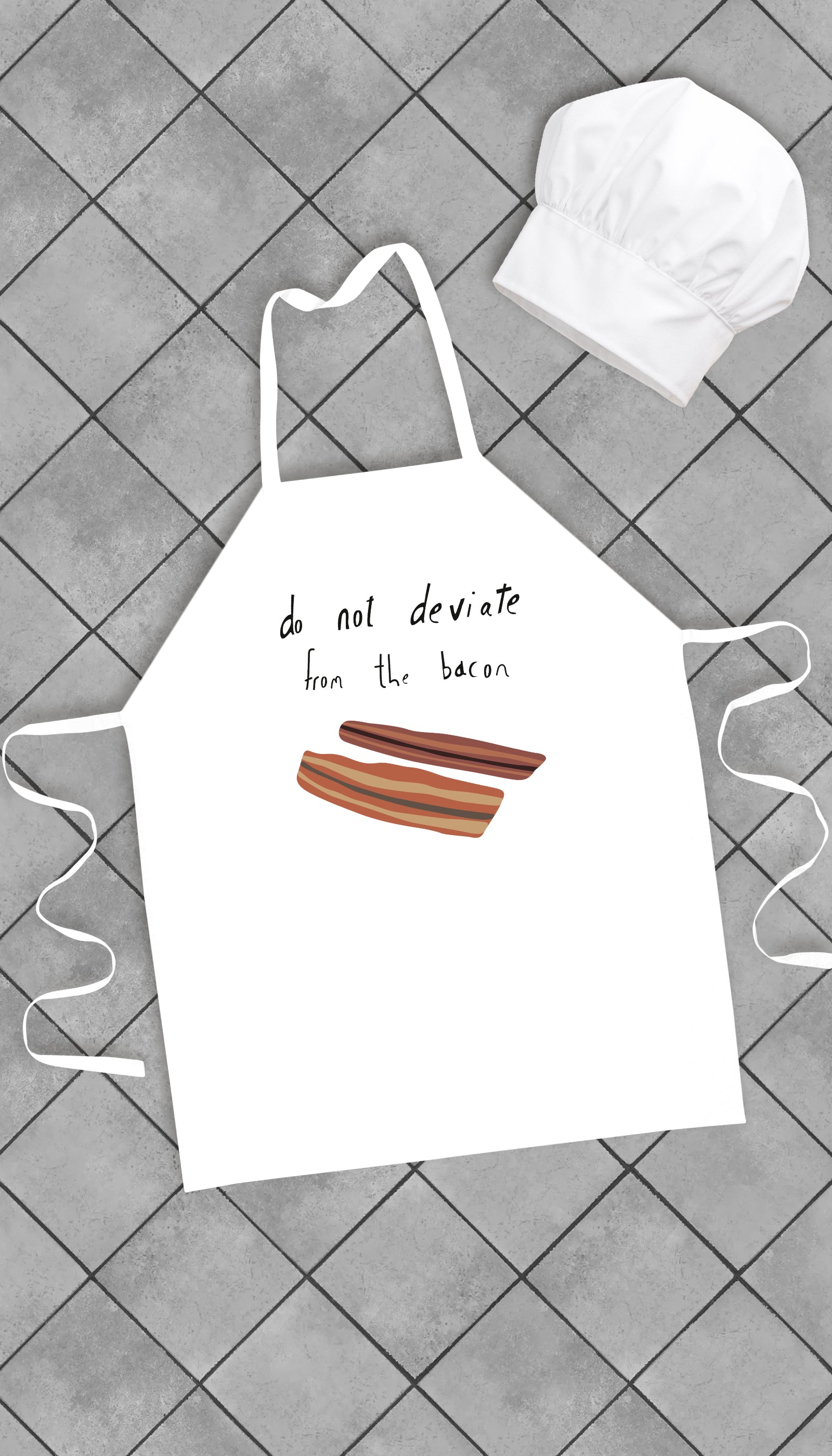 Do Not Deviate From The Bacon Funny Kitchen Apron | Sarcastic Me