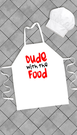 Dude With The Food Funny Kitchen Apron | Sarcastic Me