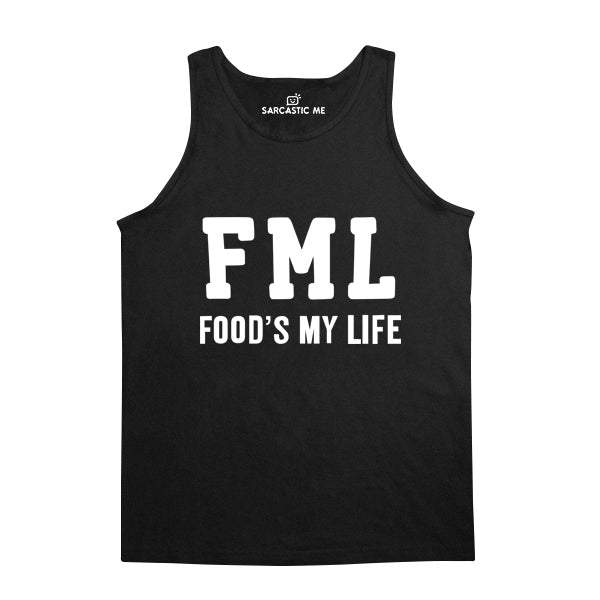 FML Food's My Life Black Unisex Tank Top | Sarcastic Me