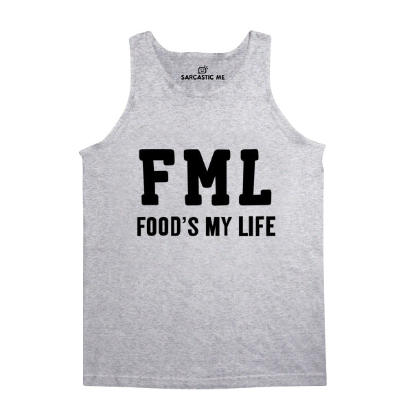 FML Food's My Life Gray Unisex Tank Top | Sarcastic Me