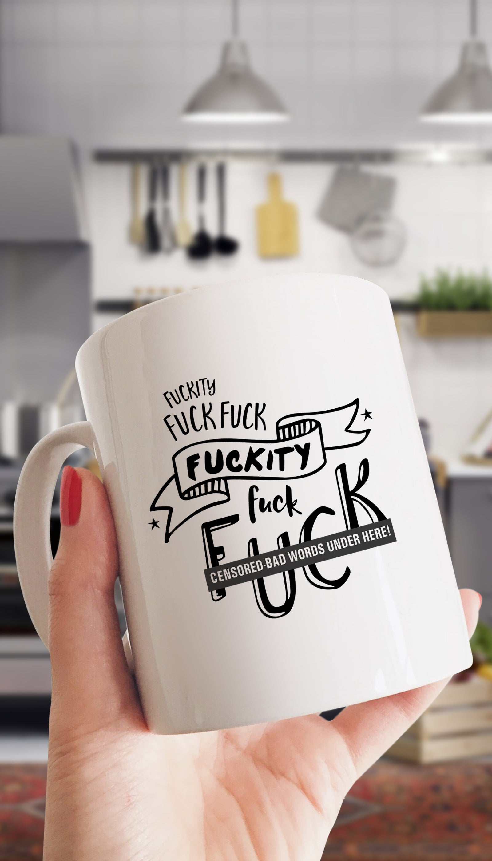 Fuckity Fuck Fuuck Censored Bad Words Mug | Sarcastic Me