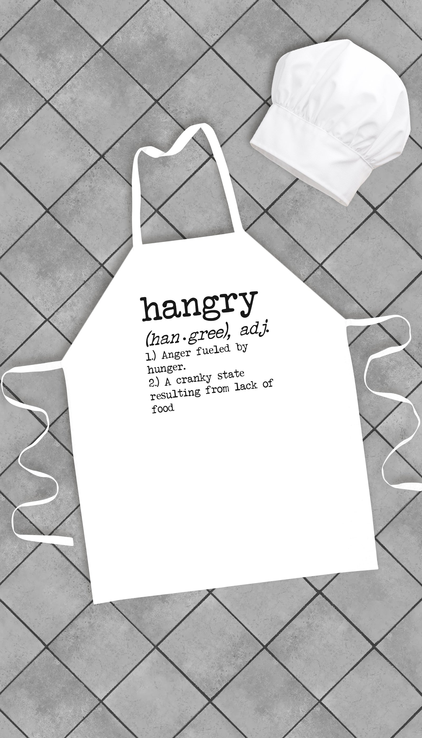 Hangry Anger Fueled By Hunger Funny Kitchen Apron | Sarcastic Me