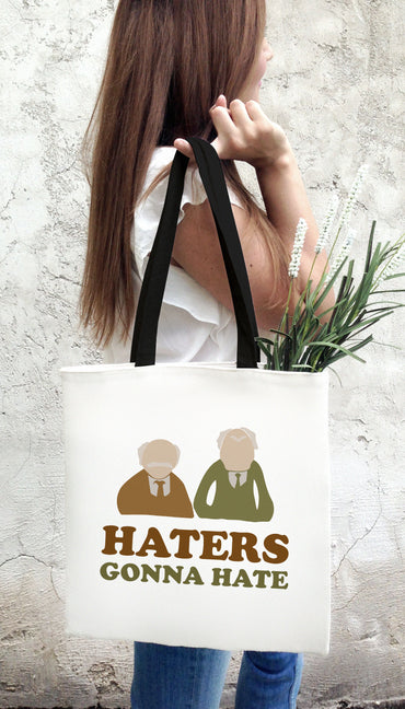 Haters Gonna Hate Funny & Clever Tote Bag Gift | Sarcastic ME