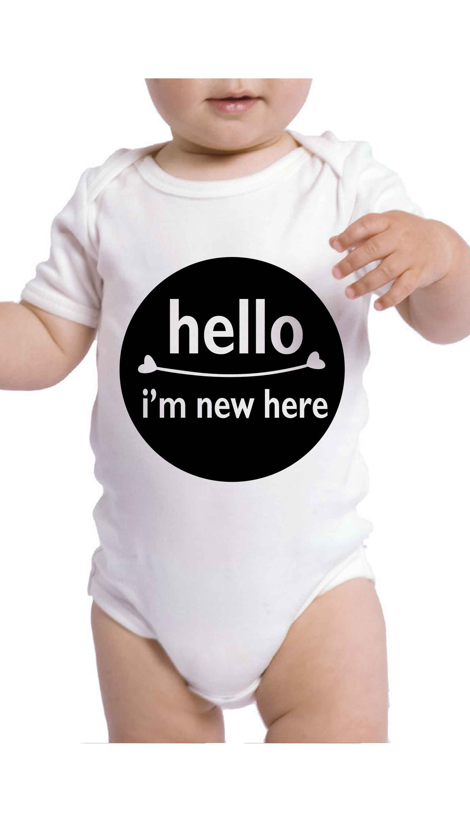 Hello I'm New Here Cute & Funny Baby Infant Onesie | Sarcastic ME
