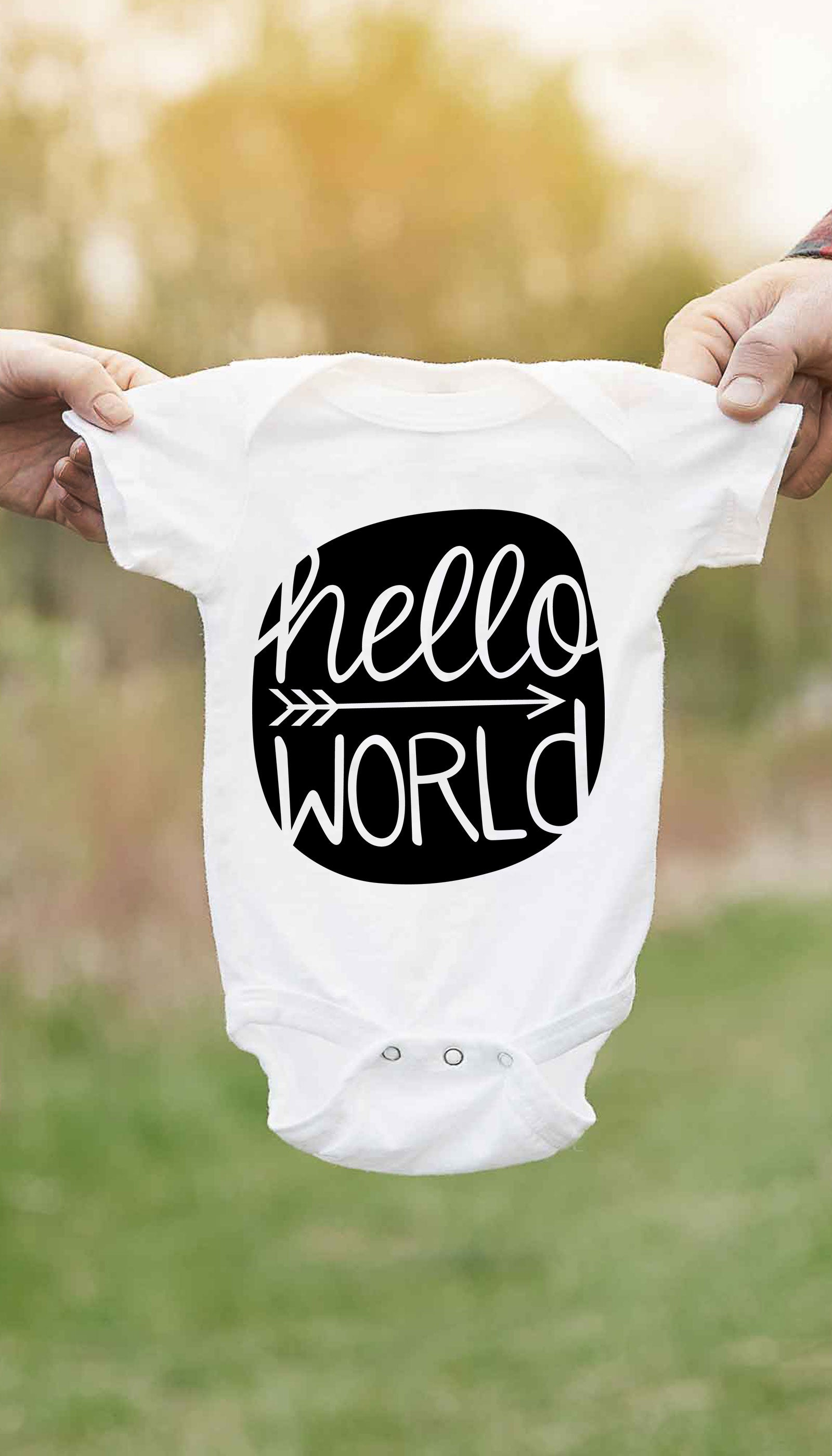 Hello World Cute & Funny Baby Infant Onesie