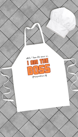 I Am The Boss Funny Kitchen Apron | Sarcastic Me