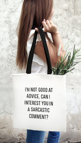 Can I Interest You In A Sarcastic Comment Funny & Clever Tote Bag Gift | Sarcastic ME