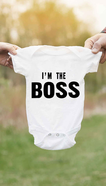 I'm The Boss Cute & Funny Baby Infant Onesie | Sarcastic ME