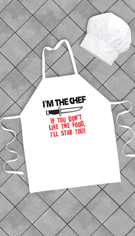 I'm The Chef Funny Kitchen Apron | Sarcastic Me
