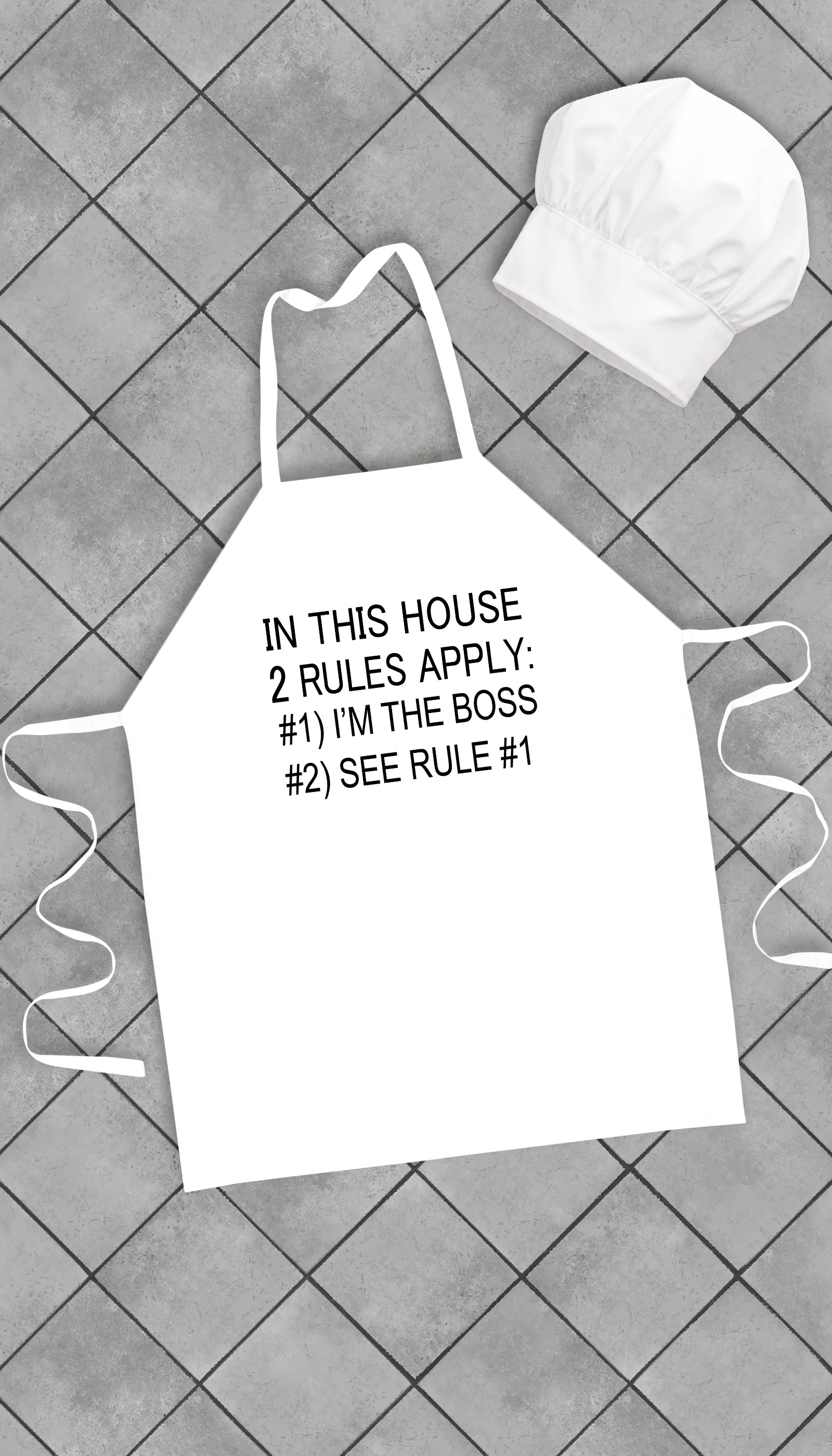 In This House 2 Rules Apply Funny Kitchen Apron | Sarcastic Me