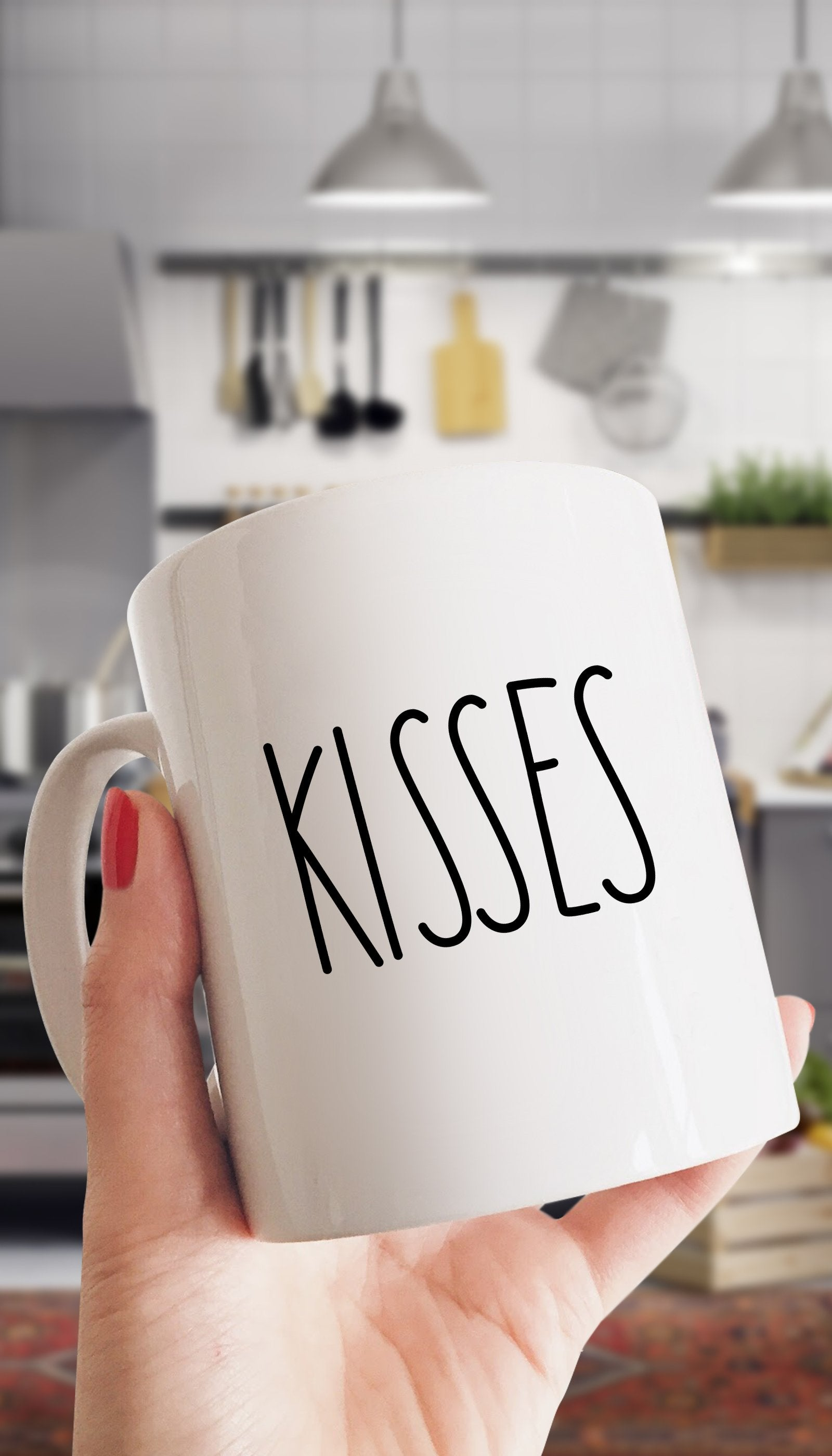 Kisses White Mug | Sarcastic Me