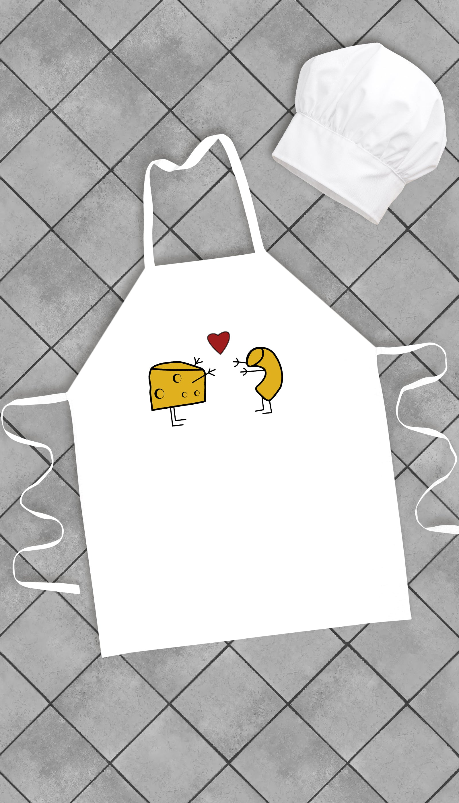 Mac & Cheese Love Funny Kitchen Apron | Sarcastic Me