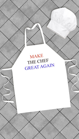 Make The Chef Great Again Funny Kitchen Apron | Sarcastic Me