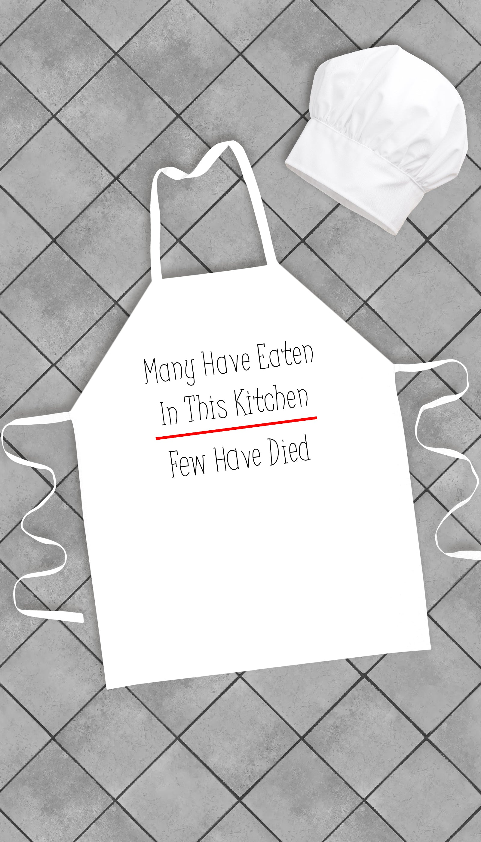Many Have Eaten In This Kitchen Funny Kitchen Apron | Sarcastic Me