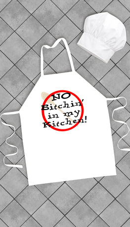 No Bitchin in My Kitchen Funny Kitchen Apron | Sarcastic Me