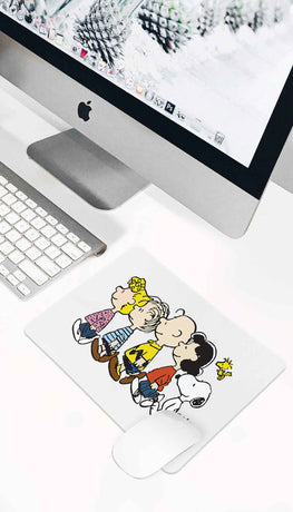 Snoopy And The Peanuts Walking Funny Office Mouse Pad
