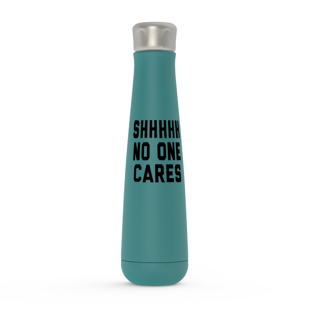 Shhh No One Cares Peristyle Water Bottles