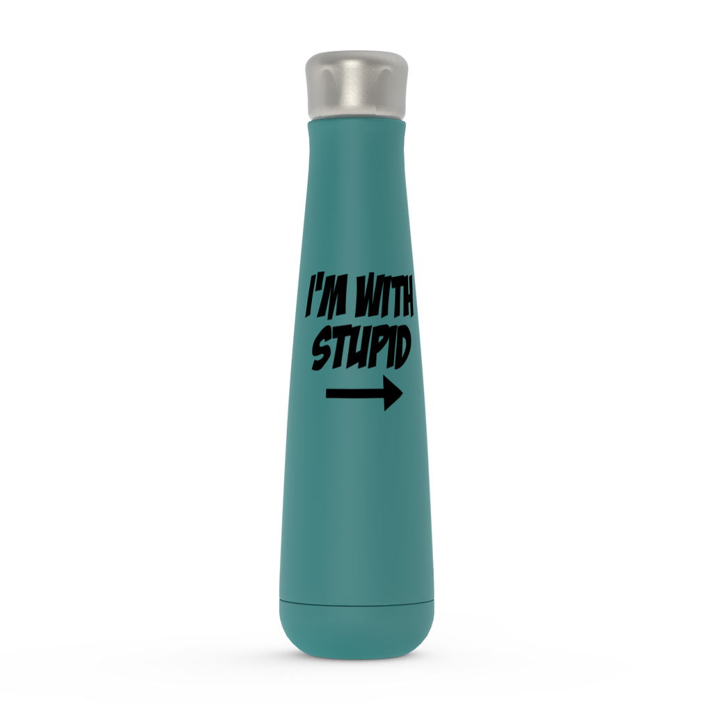 I'm With Stupid Peristyle Water Bottles