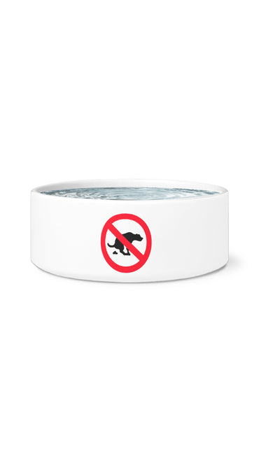 No Poop White Pet Bowl | Sarcastic Me