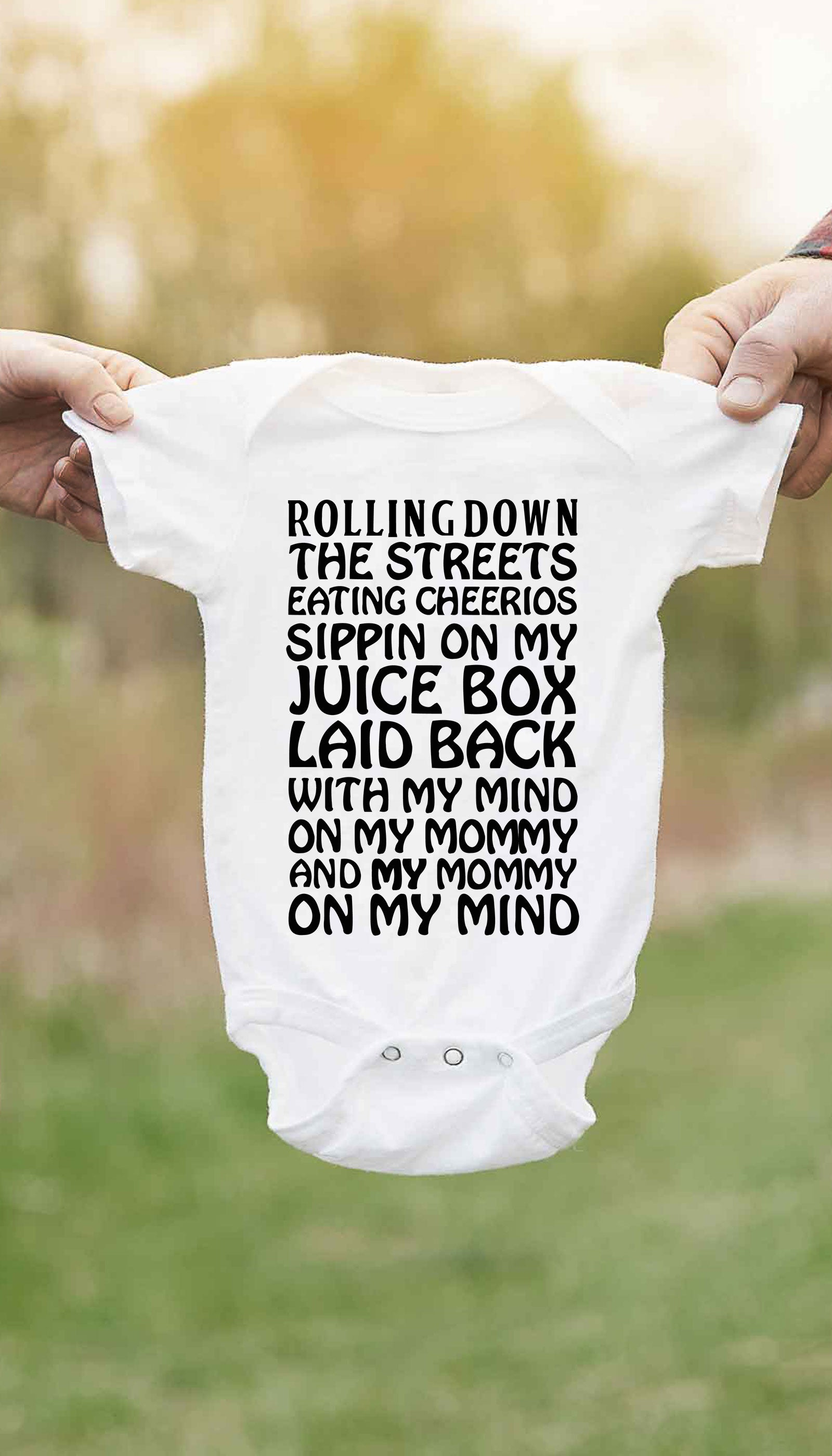 My Mind On My Mommy Cute & Funny Baby Infant Onesie | Sarcastic ME