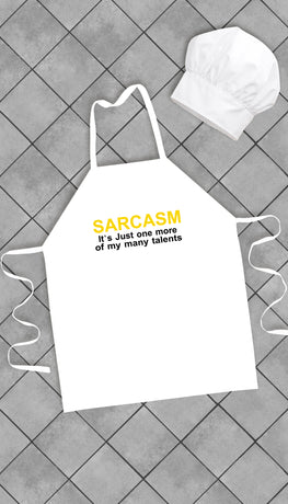 Sarcasm It's Just One Of My Many Talents Funny Kitchen Apron | Sarcastic Me