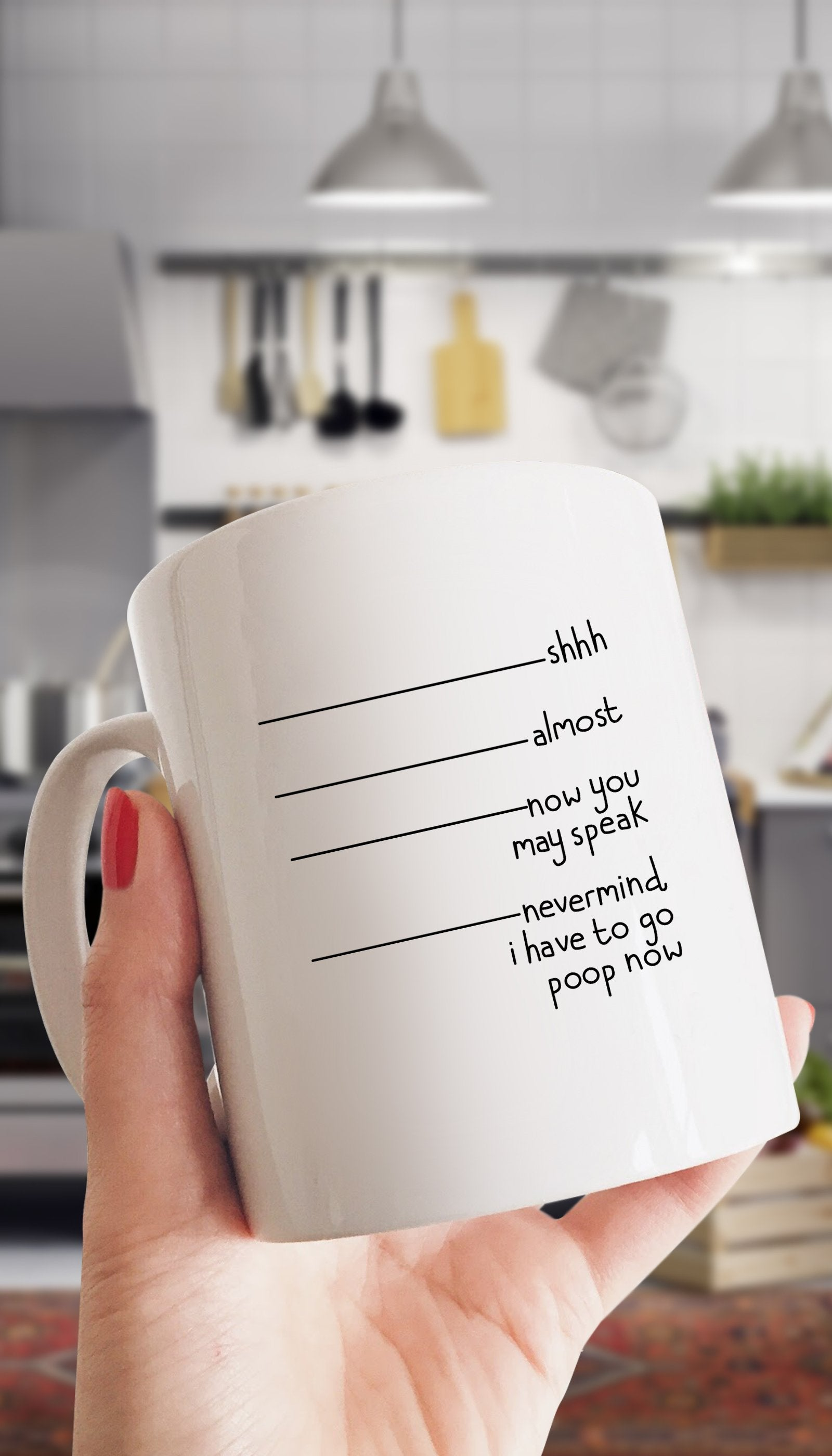 Shh Almost Now You May Speak White Mug | Sarcastic ME
