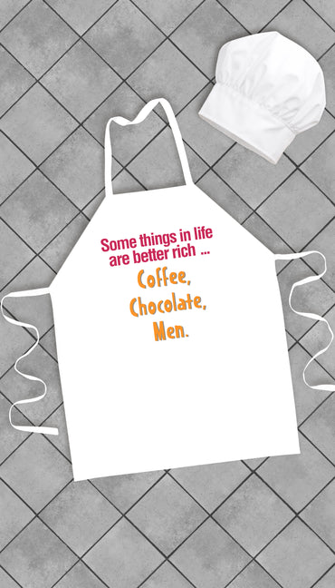 Some Things In Life Are Better Rich Funny Kitchen Apron | Sarcastic Me