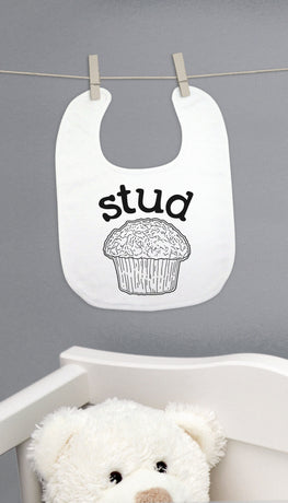 Stud Muffin Funny & Clever Baby Bib Gift | Sarcastic ME