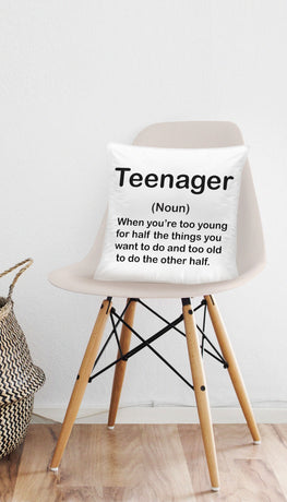 Definition Of Teenager Funny & Clever Home Throw Pillow Gift | Sarcastic ME