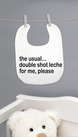The Usual Double Shot Leche Bib | Sarcastic ME
