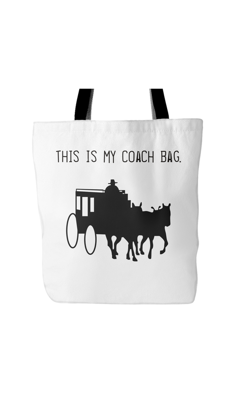 This Is My Coach White Tote Bag | Sarcastic Me