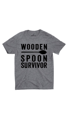 Wooden Spoon Survivor Gray Unisex T-shirt | Sarcastic ME